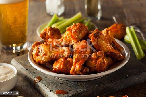istock Spicy Homemade Buffalo Wings 485599134