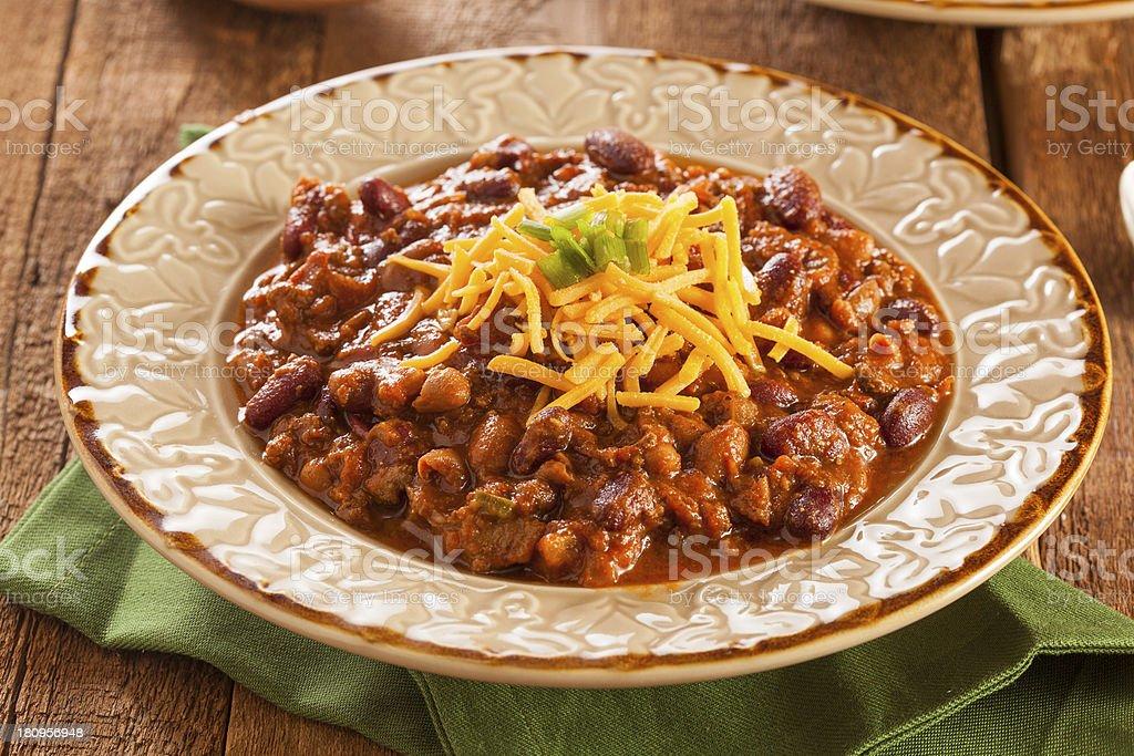 Pikante Hausgemachte Suppen Und Chili Con Carne Stockfoto Und Mehr