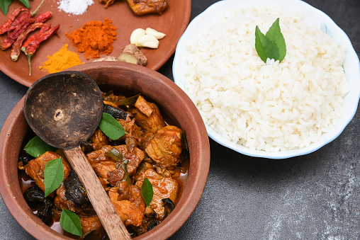 istock spicy hot Kerala fish curry ingredients 666199922