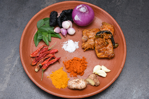 istock spicy hot Kerala fish curry ingredients 666199948