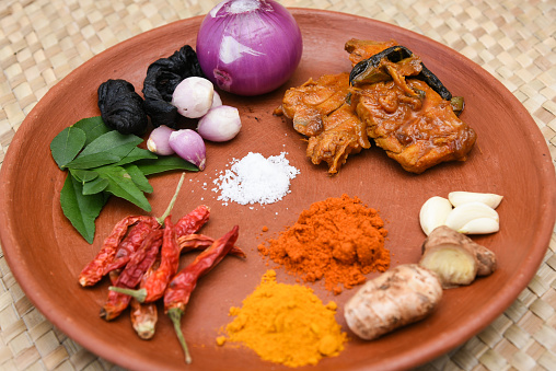 istock spicy hot Kerala fish curry ingredients 666199954
