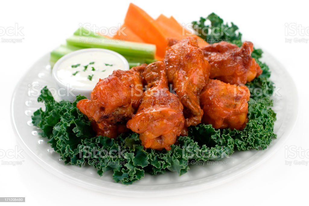Spicy Hot Wings royalty-free stock photo