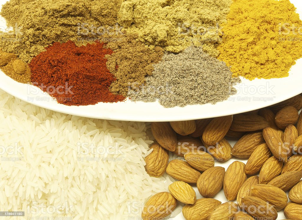 spicy ingredients royalty-free stock photo