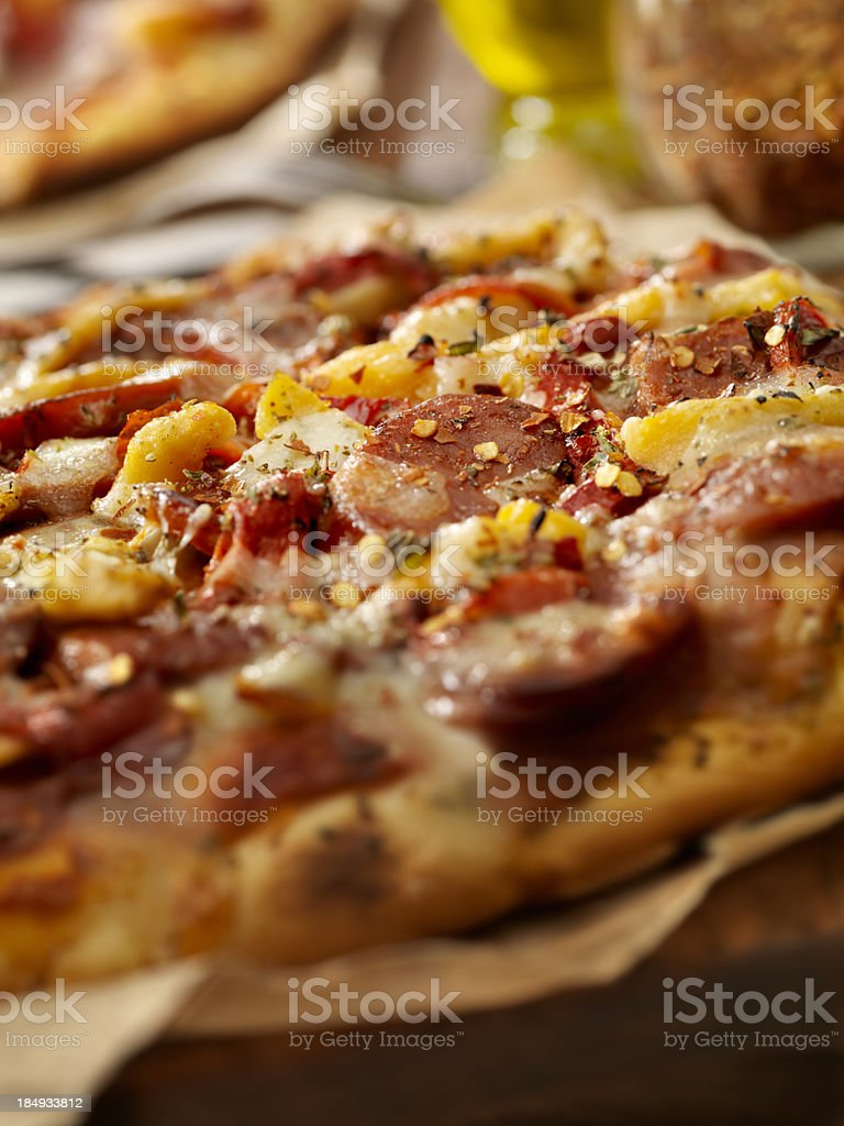 Spicy Italian Pizza royalty-free stock photo