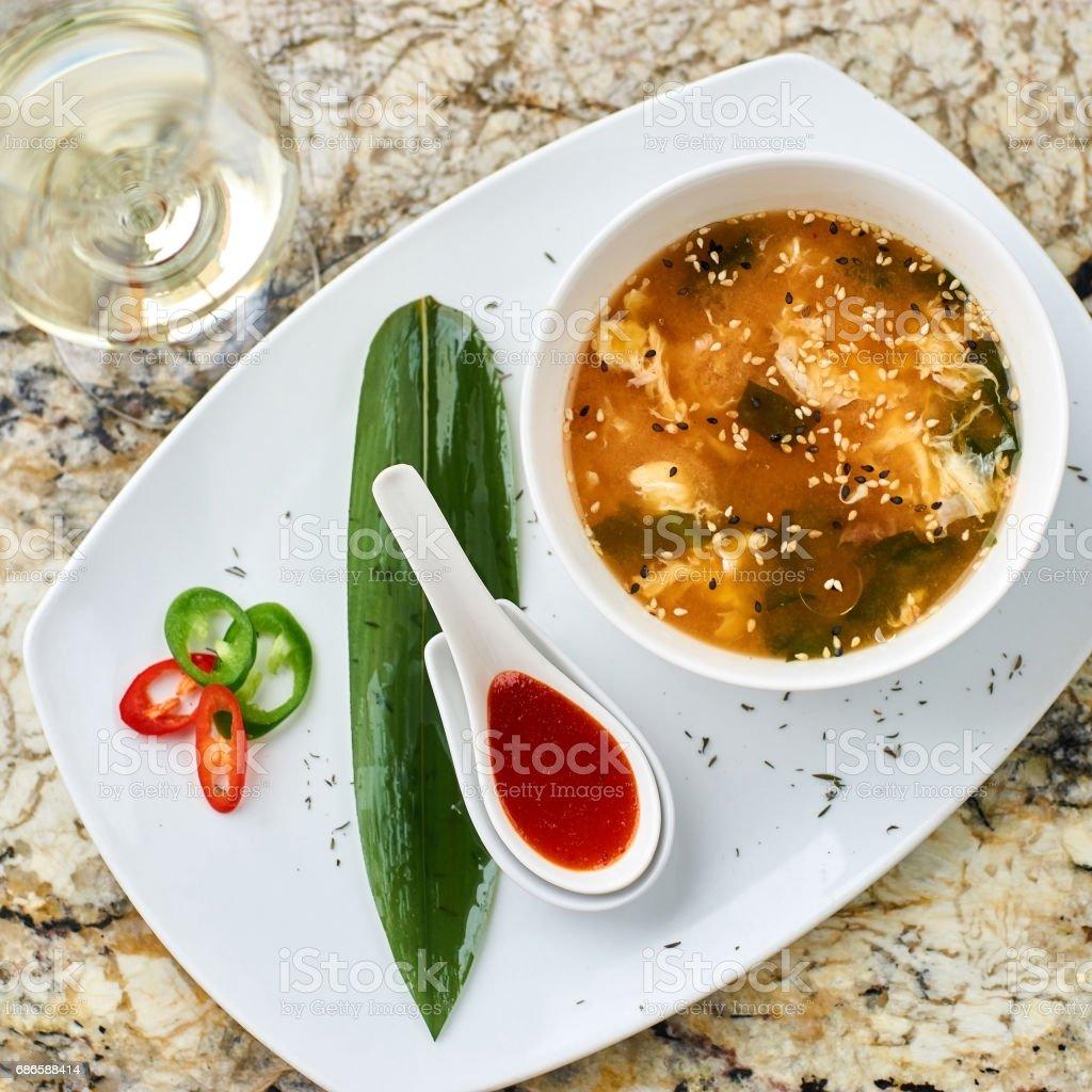 Spicy korean kimchi soup royalty-free stock photo