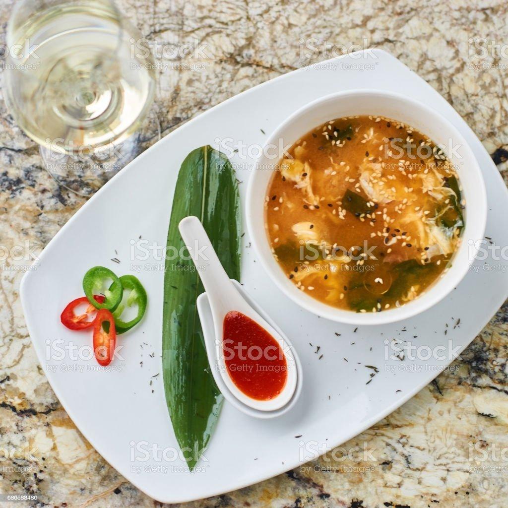 Spicy korean kimchi soup photo libre de droits