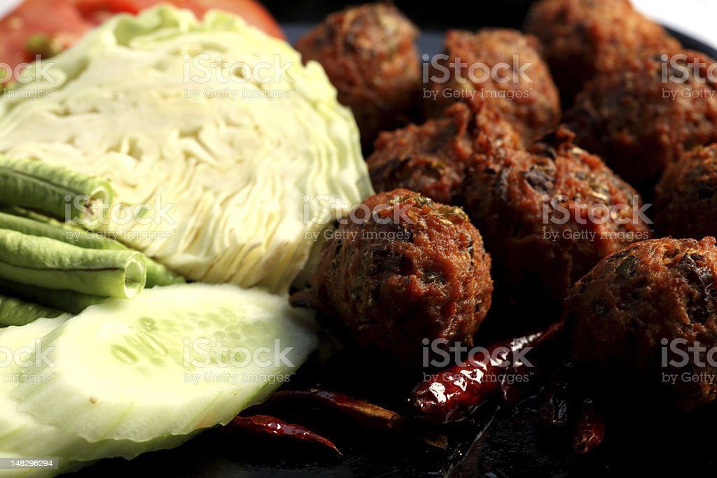 Spicy meat balls royalty-free stock photo