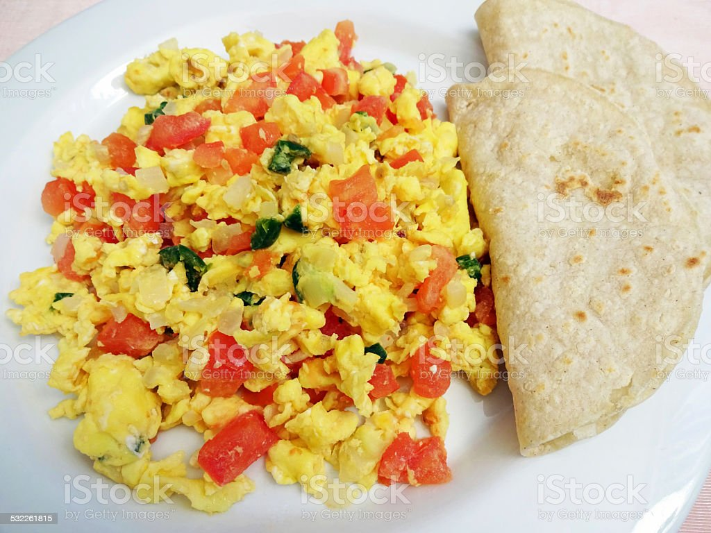 Spicy Mexican Style Eggs stock photo