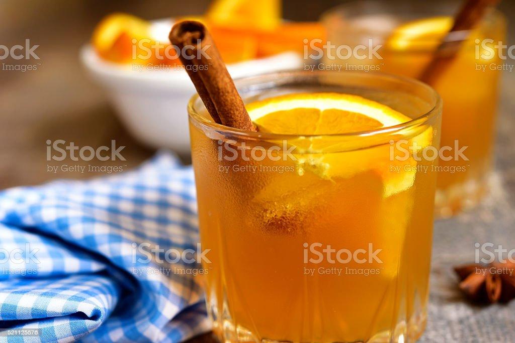 Spicy orange iced tea. stock photo