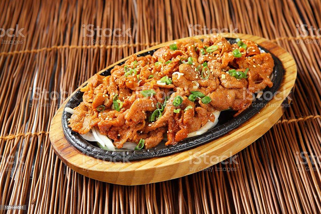Spicy Pork Bulgogi stock photo