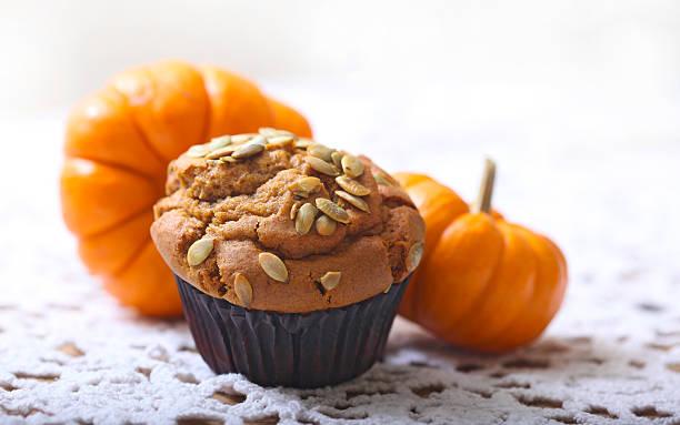 Spicy Pumpkin Muffin stock photo