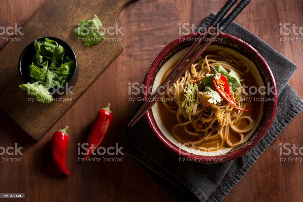 Spicy Ramen stock photo