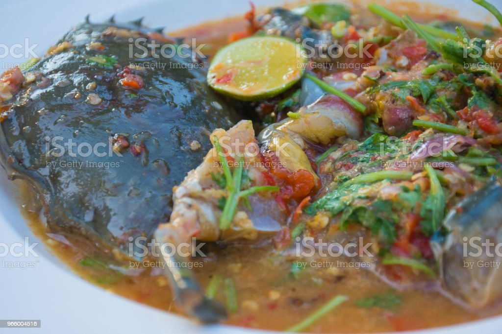 Spicy Roe Crab Salad - Royalty-free Blue Crab Stock Photo