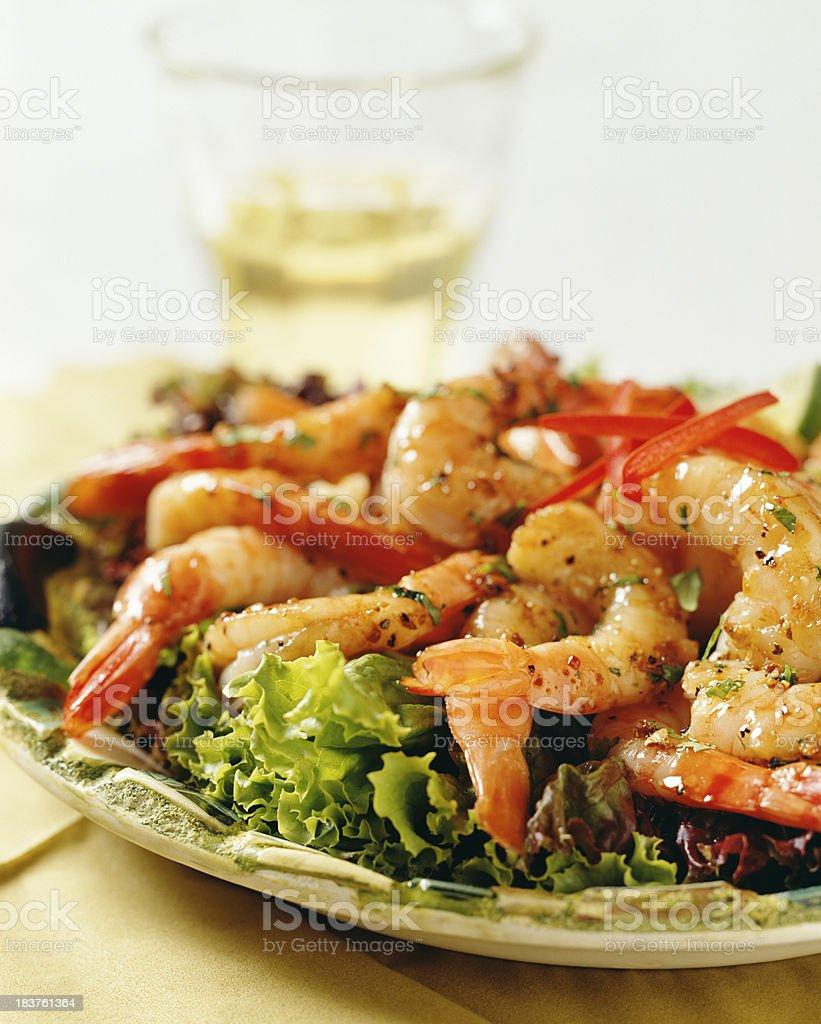 Spicy shrimp royalty-free stock photo