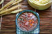 spicy sour egetable soup