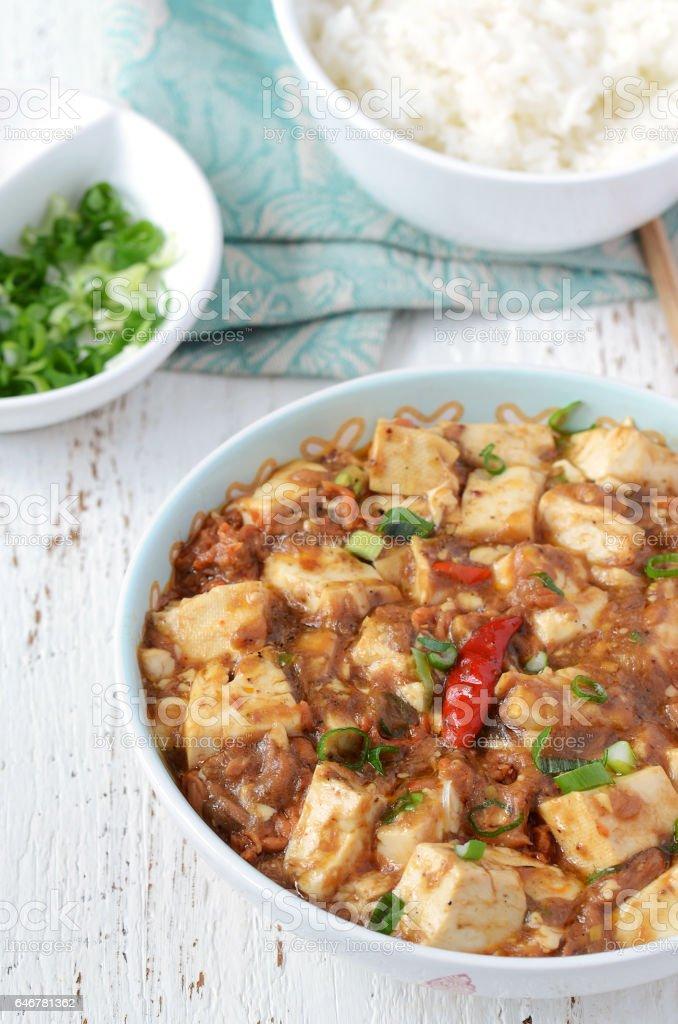 Spicy Thai Chili Tuna Tofu stock photo
