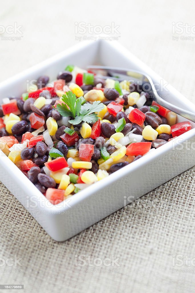 Spicy Three Bean Salad stock photo