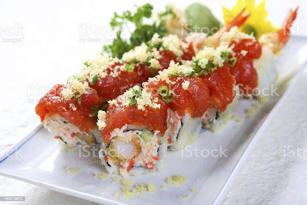 Spicy Tuna Roll royalty-free stock photo