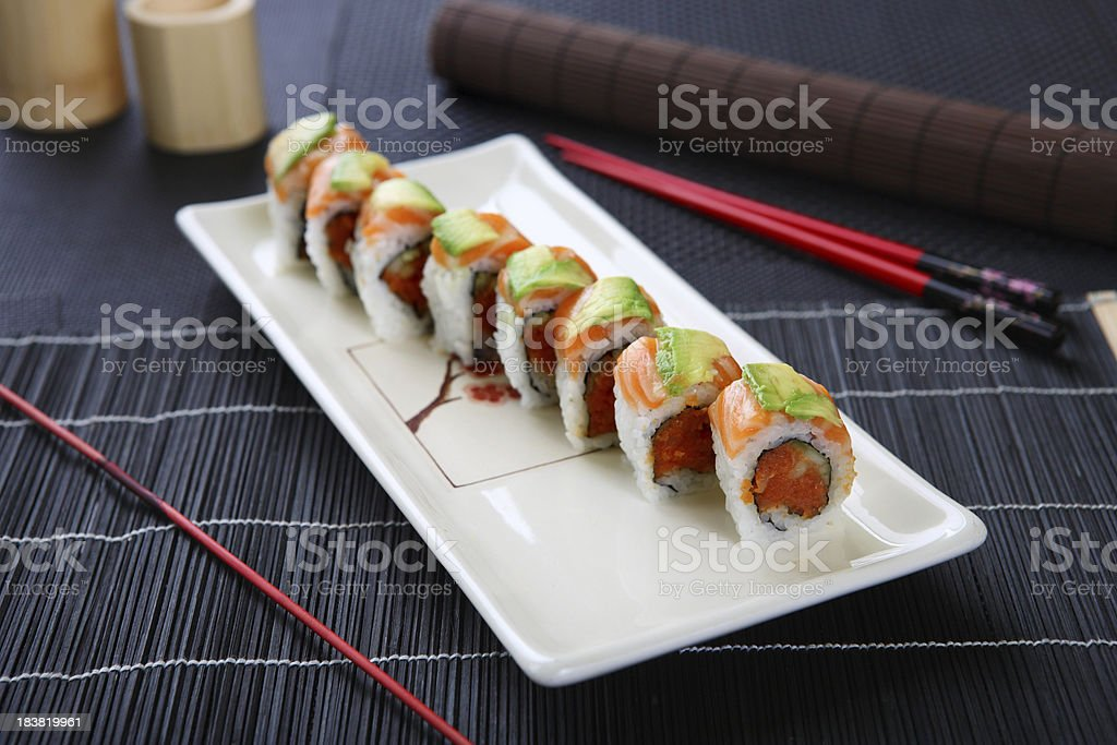 Spicy Tuna Roll royalty-free stock photo