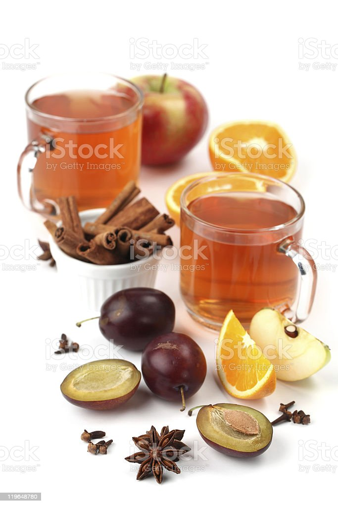 Spicy winter hot drink royalty-free stock photo