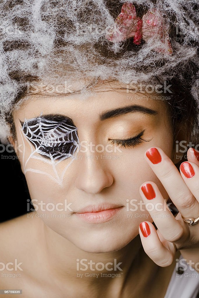 spider makeup royalty-free stock photo
