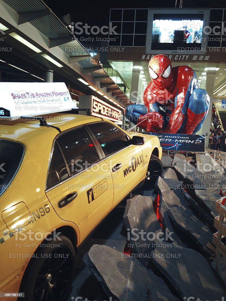 Spider man at Hong Kong stock photo