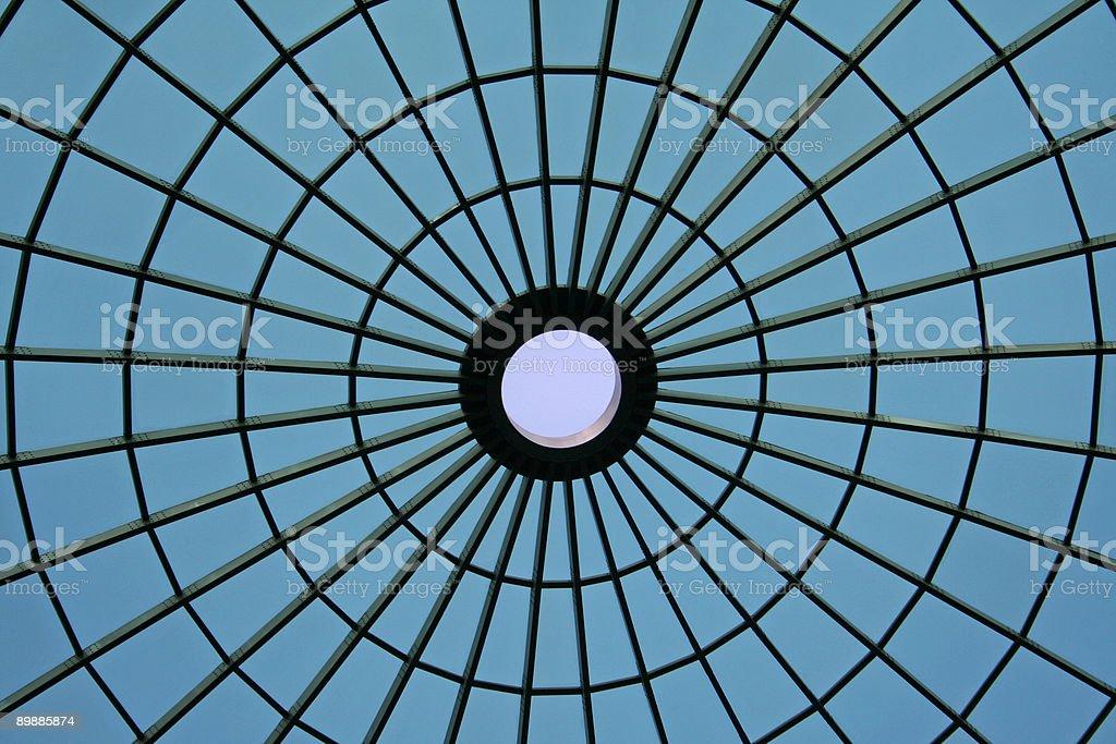 Spider net roof stock photo