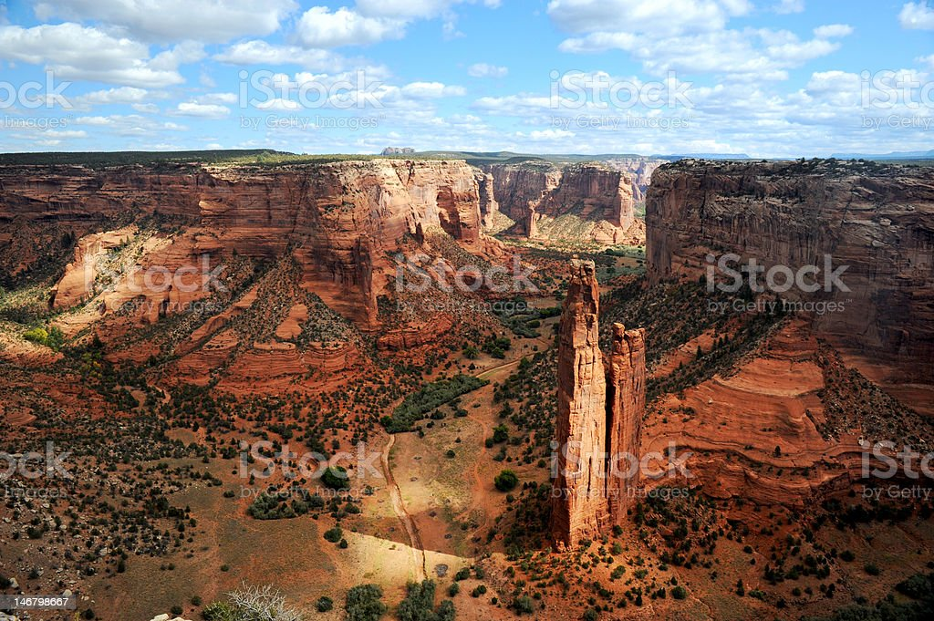Spider Rock in Canyon de Chelley stock photo