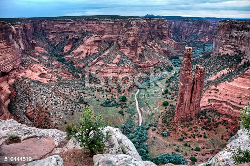 The name of this towering rock formation in Canyon de Chelly is Spider Rock.