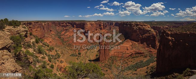 This is a view on the Spider Rock (Canyon de Chelly). The picture is Extra high resolution (more than 10.000 pixels large).