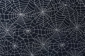 A spider web background on fabric.