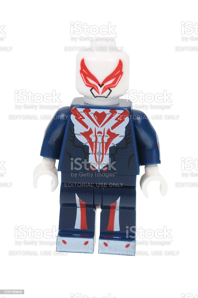 Spiderman 2099 Lego Minifigure stock photo