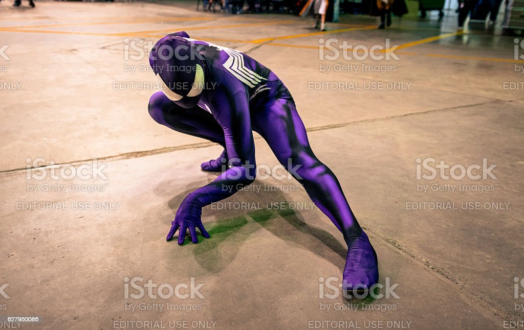 Spiderman cosplay stock photo