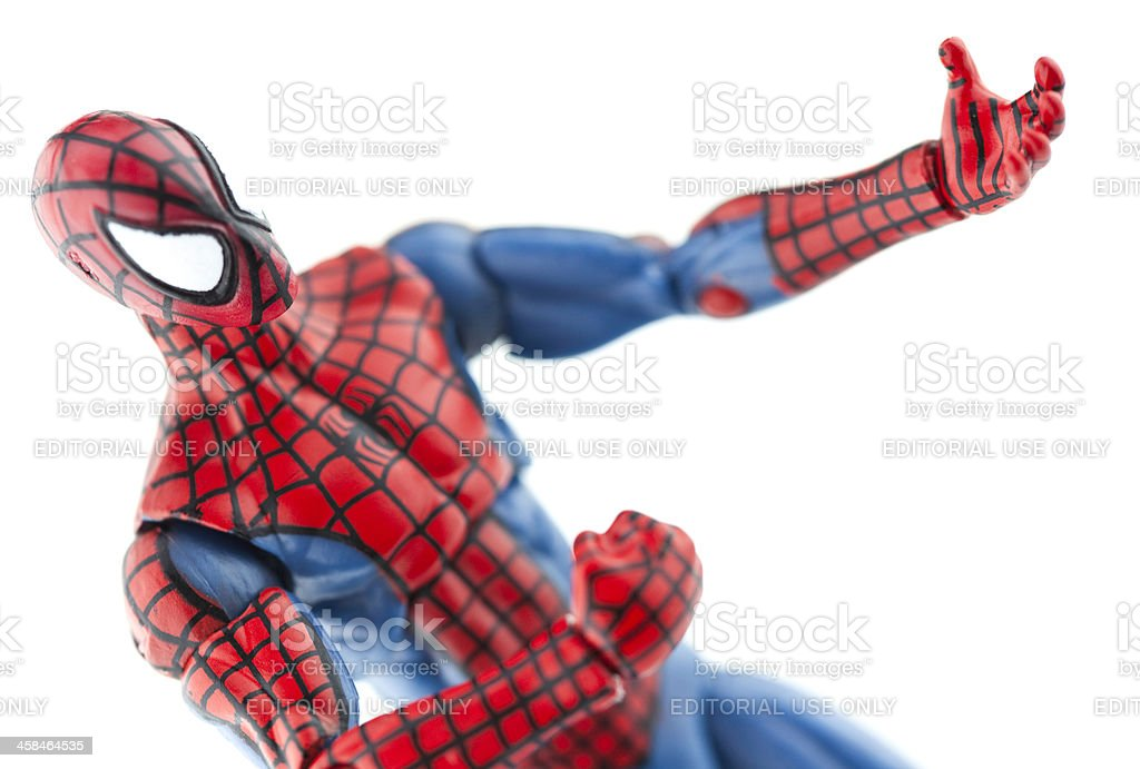 Spiderman Gesturing stock photo
