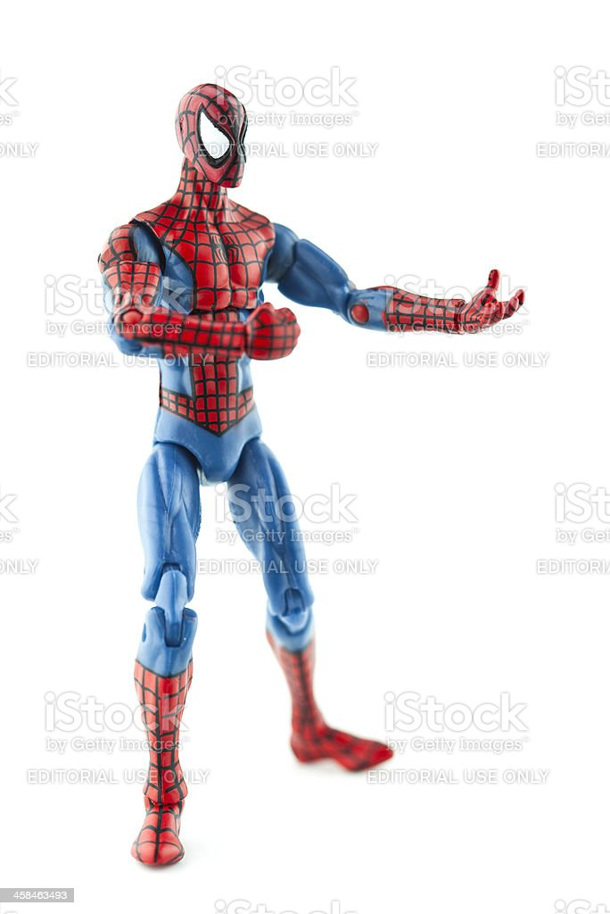 Spiderman Vertical Shot stock photo