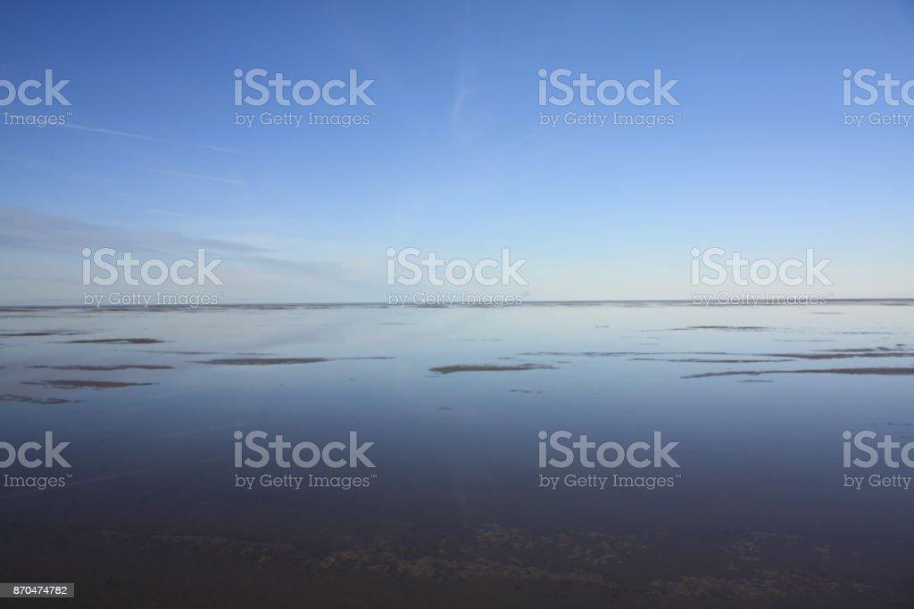 Spiegelungen Im Wattenmeer – Foto