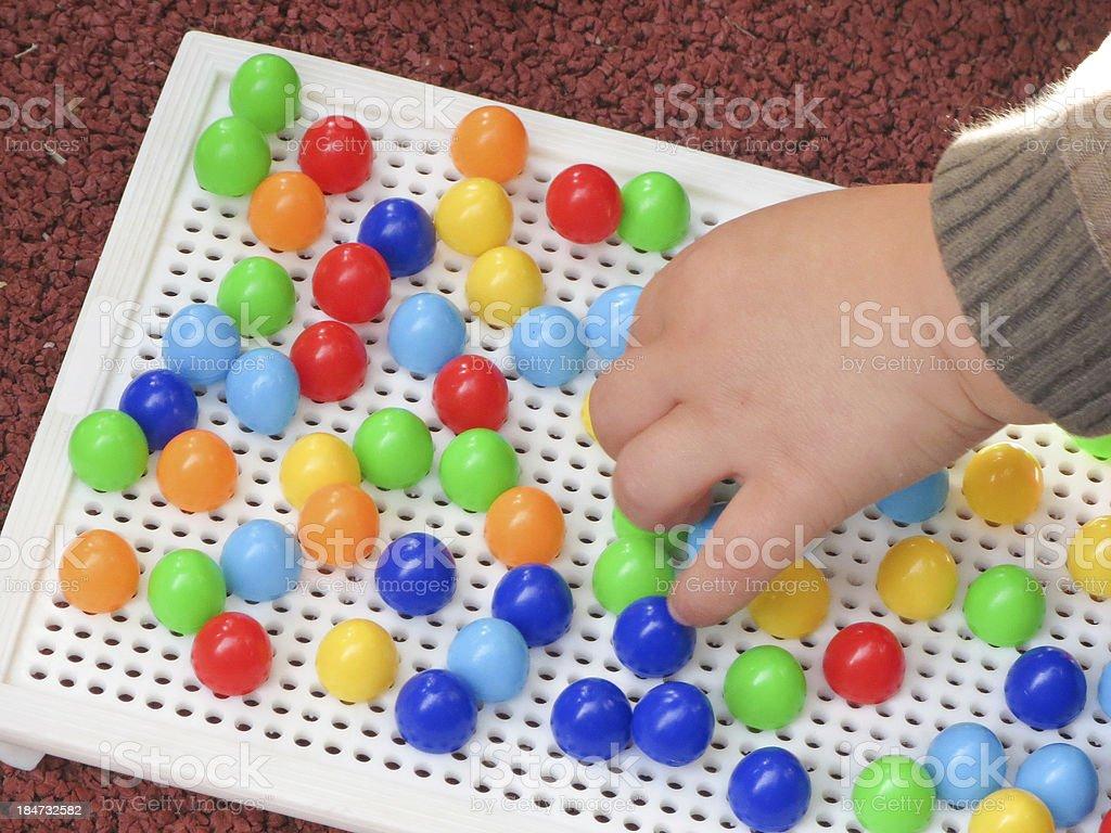 spielende Kinderhand royalty-free stock photo