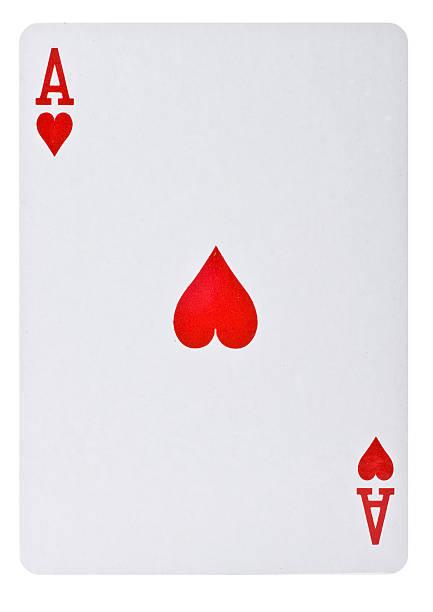 Spielkarte Herz Ass stock photo