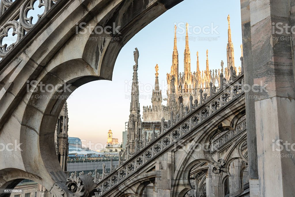 Spiers Of Milan Cathedral stock photo