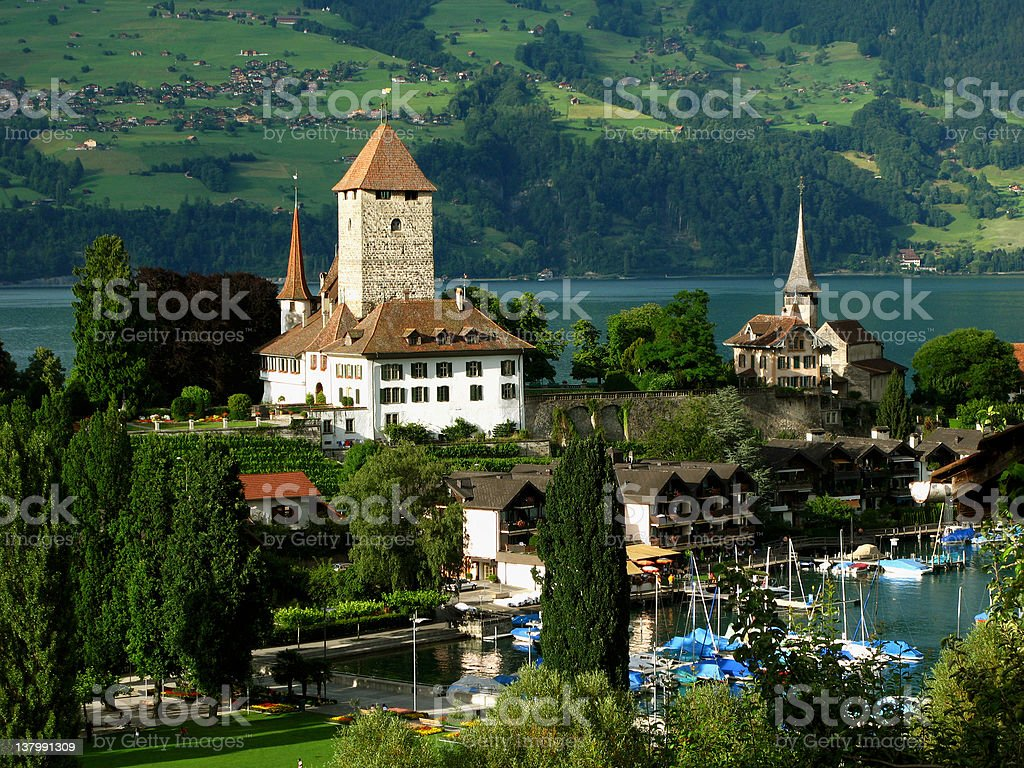 Spiez Castle 05, Switzerland royalty-free stock photo