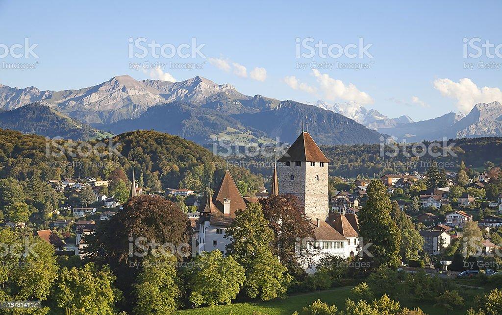 Spiez castle royalty-free stock photo