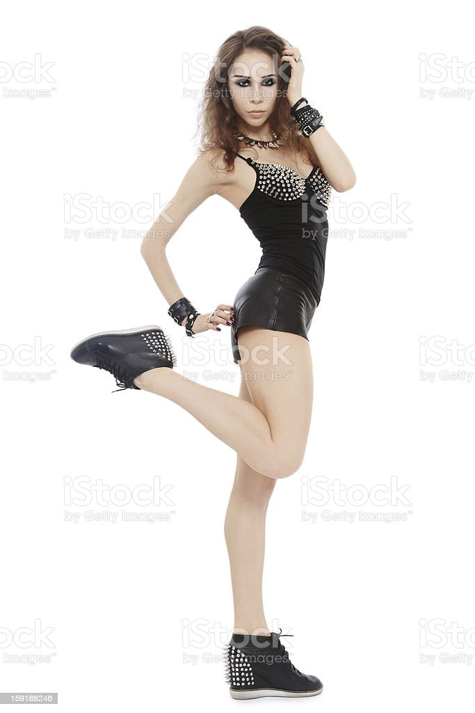 Spiked girl royalty-free stock photo