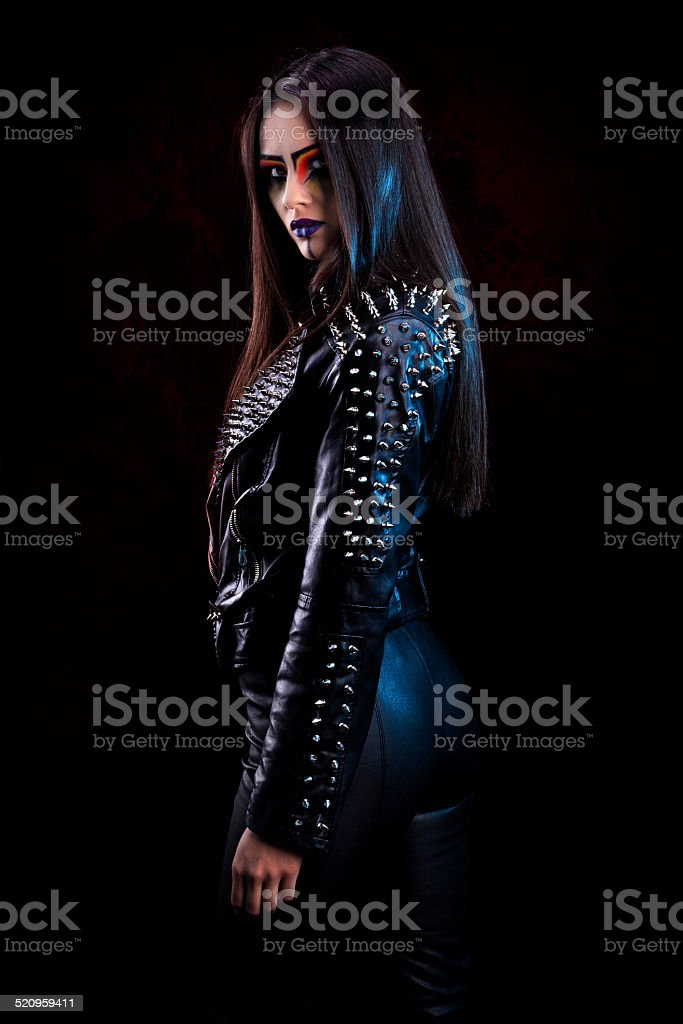 Spikes &Leather stock photo