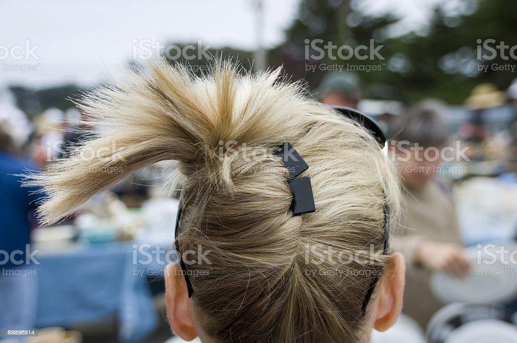 spikey hair royalty-free stock photo