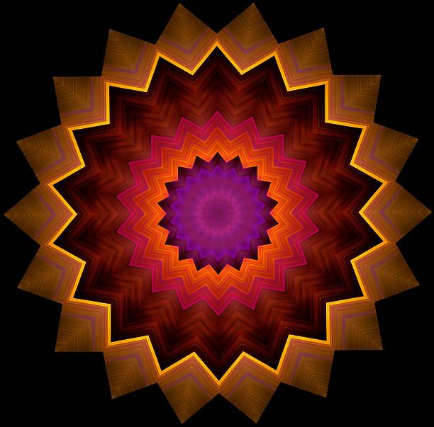 Spiky Circles - Geometric Ornament stock photo