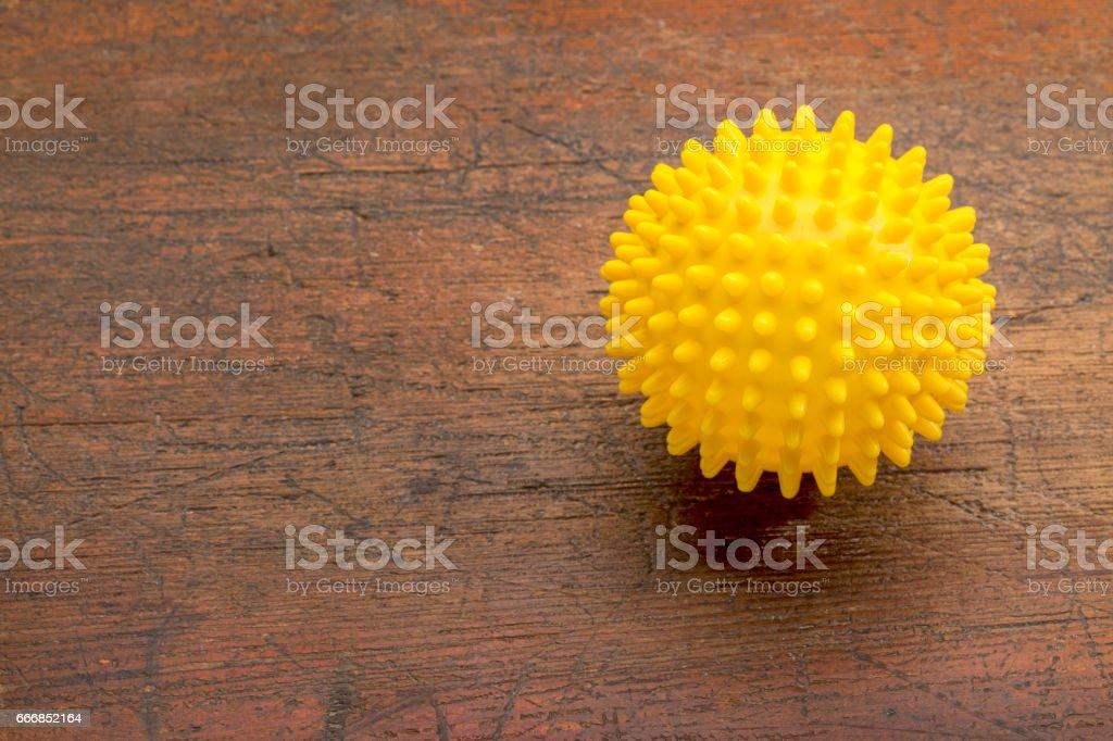 spiky self massage ball stock photo