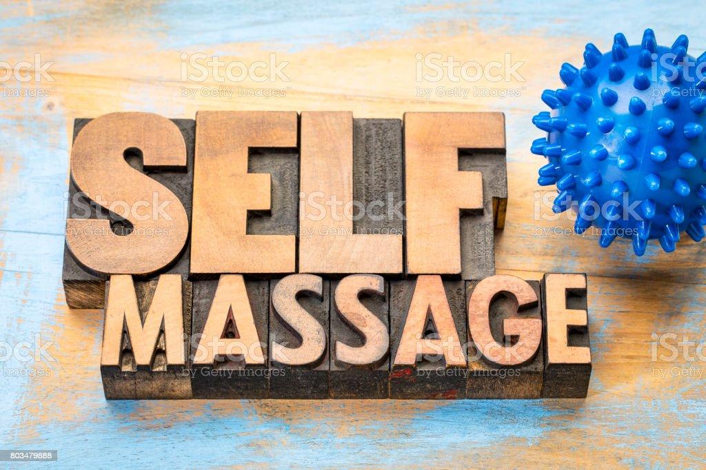 spiky self massage concept stock photo