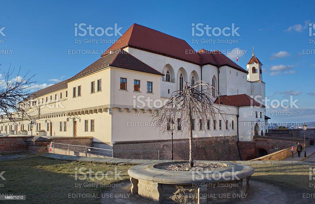 Spilberk castle in the evening, Brno, Czech republic stock photo