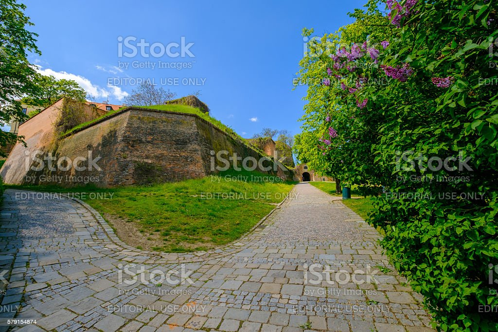 Spilberk castle tower view stock photo