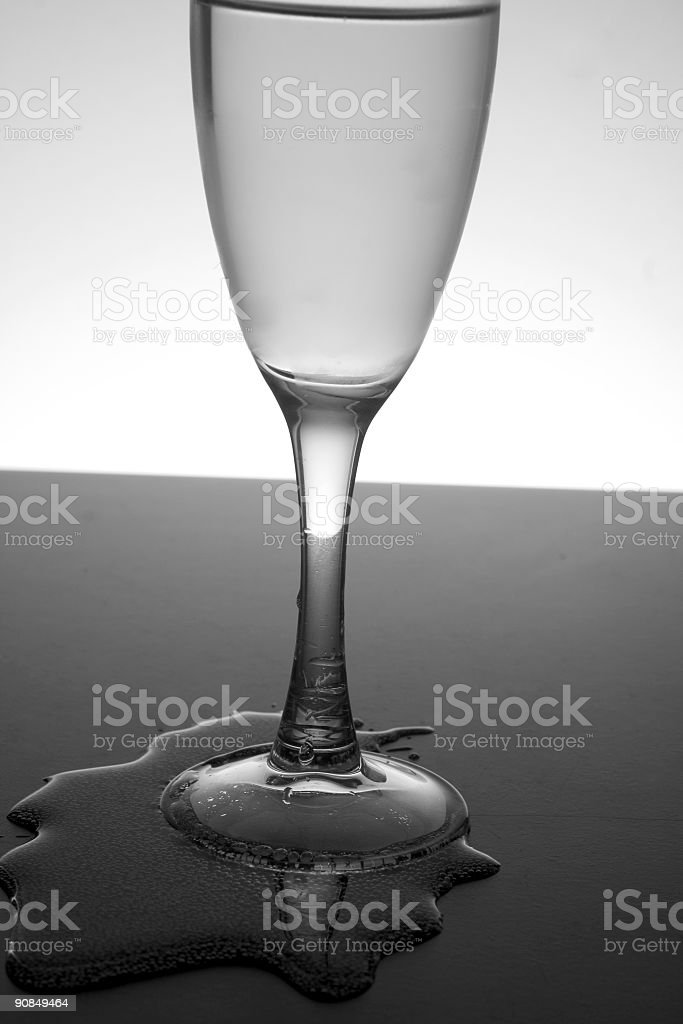 Spilled Champaign royalty-free stock photo